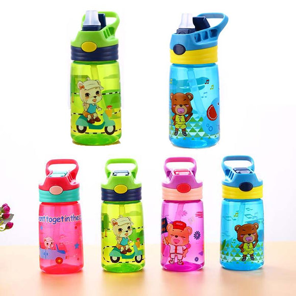 MOLIMORE 430ml Healthy Child Water Bottle With Straw High Quality Plastic Kid Drinkware Children Water Bottles BPA Free