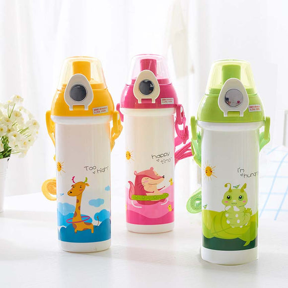 MOLIMORE 460ml Baby Water Bottle Kid Bottles Child Drinking Bottle for Water Sport Feeding Plastic Tumbler Leak Proof