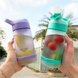 SO-KID 600 ML Water Bottle With Straw Eco-friendly Plastic Leak Proof Scrub Drinking Portable Drinkware For Children Lovers