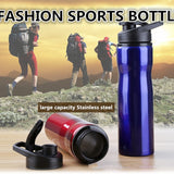 750ML stainless steel 304 Sports outdoor Mountaineering kettle with baking print portable my water bottle with handle Lid