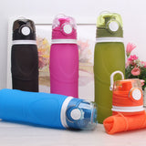 BPA Free Portable Silicone Sport Squeeze Water Bottles Collapsible Foldable Reusable Bottle for Water Travel Bicycle Bottle