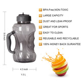Bpa-free 1500ml large Capacity Tritan dumbbell space sports kettle portable travel equipped My Straw Water Bottle With handle