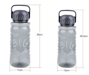 1500ml 2000ml large capacity Plastic Bpa-free space sports kettle Creative and portable travel equipped My Water straw Bottle