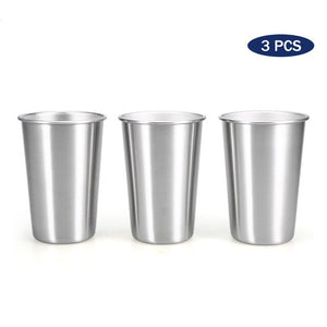3PCS / 4PCS 500ML Camping Water Cup Stainless Steel Mug Cup Travel Beer Mug Outdoor Tableware Bar Picnic Water Cup Mug for Coffee Tea