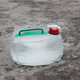 Foldable Plastic Large Water bag 10L 2.6Gal Collapsible Outdoor Camping Water Carrier Container Bag