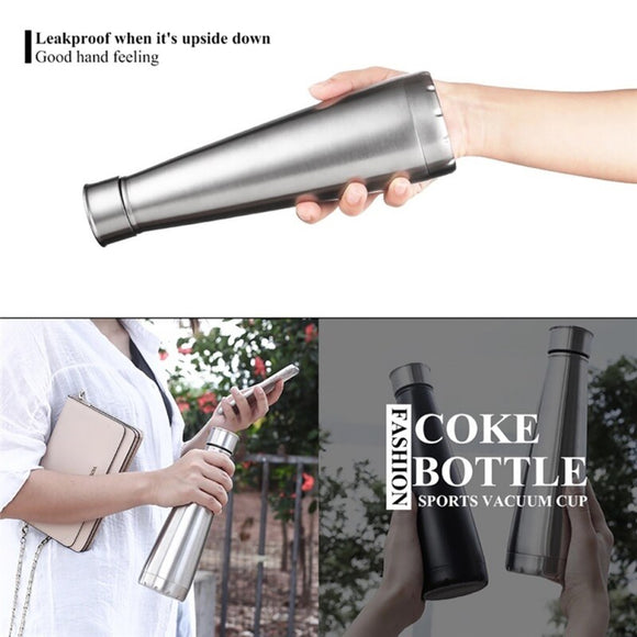 460ml Insulation Cup Fashionable Portable Water Double Vacuum Stainless Steel Sports Outdoor Water Bottle