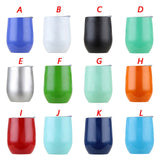 12oz Stainless Steel Stemless Insulated Wine Tumbler Double Wall Vacuum Insulated Wine Water Cup for Coffee Wine Cocktails Ice Cream