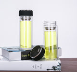 Double Wall office cups Bottles Tumbler Glass Tea Drinking, Teacup Coffee Water pot teacup,Water Bottle Vacuum Flask