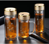 Double Wall Glass cup Bottles Tumbler Glass Tea Drinking, Teacup Coffee Water pot tea cup,Water Bottle cups Flask