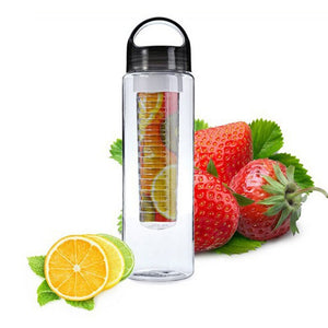 Aihogard 700ML Plastic Portable Fruit Infuser Water Bottle with Filter Leakproof Sport Hiking Camping Outdoor Fruit Drink Bottle