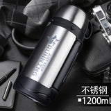 1.2L 1.5L 1.8L Large Capacity Over 48H Insulation Kettle Portable With Shoulder Strap Outdoor Vacuum thermos with Handle