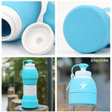 Portable Collapsible Water Bottle 580ml Lightweight Silicone Kettle For Travel Outdoor Sport Camping Hiking Running BPA Free