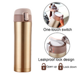 350ml 500ml Thermos Water Bottle Portable Stainless Steel Thermos Bounce Cover Vacuum Flask Insulated Thermo Sports