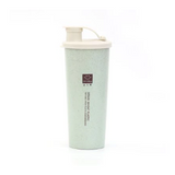 450ml Coffee Tea Water Bottle Protein Powder Shaker Water Bottle Portable Travel Wheat Straw Single Layer Water Bottle