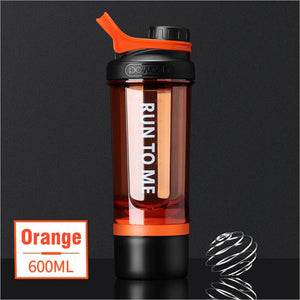 HILIROOM Shaker Water Bottle Drink Plastic Bottles BPA Free Gym Fitness Kettle Outdoor Camping Picnic Bicycle Cycling Climbing Bottle