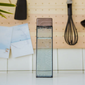 Soffe 450ml Fruit Infuser Water Bottle BPA Free Plastic Square Transparent Heat Resistant Korean Style  Sport Drink Bottle