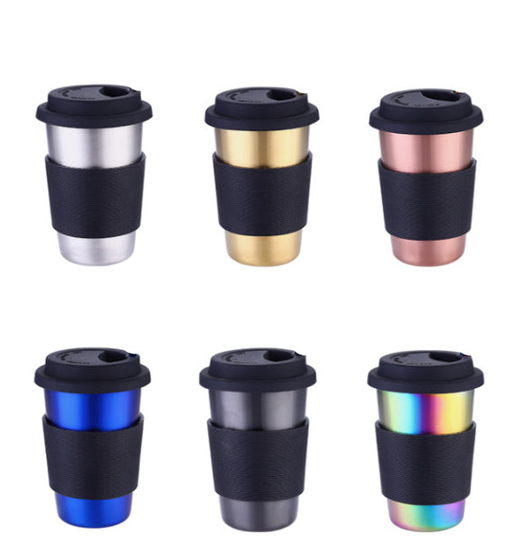 350ml 500ml Portable Food Grade Stainless Steel Coffee Mug With Cup SleeveTitanium Travel Mugs