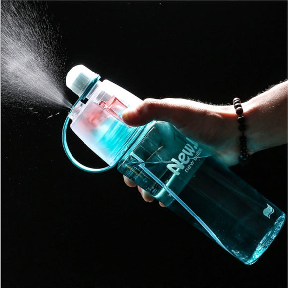Spray Sports Water Bottle Kettle BPA Free Leak Proof Hiking Portable Bottles Bicycle Cycling 400ML 600ML Drinking Bottles Shaker