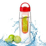 Transhome New Fruit Juice Infuser Water Bottle 700ml BPA Free Cycling Sports Fruit Infusing Infuser Water Lemon Bottles Flip Lid