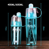Transhome Spray Water Bottle For Sport 600ml Creative Bpa Free Plastic Water Bottle Portable Drinking Bottle For Water Drinkware
