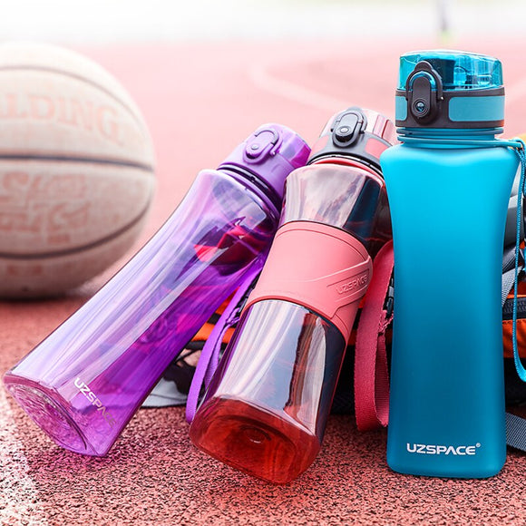 UZSPACE 500ml 3 Styles Sport Water Bottle Creative Portable Leakproof Plastic Shaker My Drink Bottle Tour Hiking Tritan BPA Free
