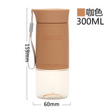 UZSPACE Small Sports Water Bottles MINI Cute Fashion Tritan Plastic Drinkware Handy bottle My drink bottle Cup 300ml BPA Free