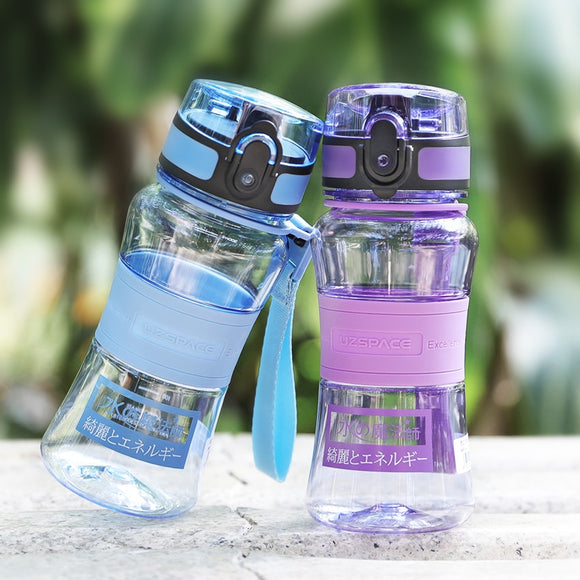 UZSPACE Sports Water Bottle 350ml Tritan Good Quality Child Leak-Proof Tour Hiking Portable Rope Tea My Favorite Bottle BPA Free