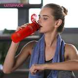 UZSPACE Sports Water Bottles Direct Drink or Straw My Bottle for Water 500ml Portable Leakproof Plastic Drinkware BPA Free
