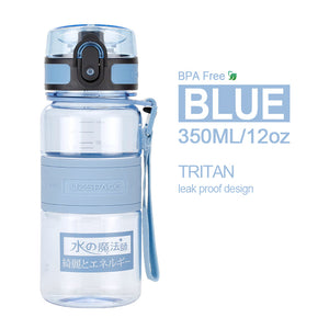 350ml 500ml 600ml 1000ml BPA Free Plastic Water Bottles Sports Portable Leak Proof Shaker Bottle Tritan Drinkware