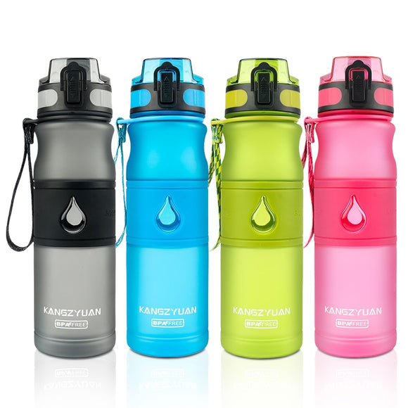 HILIROOM Bpa Free Plastic Direct Drinking 530ml Drink School Water Bottles Shaker Bottle Gourde En Plastique Sport
