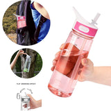 Bottled Joy 700ml  water bottle with straw and Handle Tritan bpa free drink water bottles for kids  my gym Plastic bottle