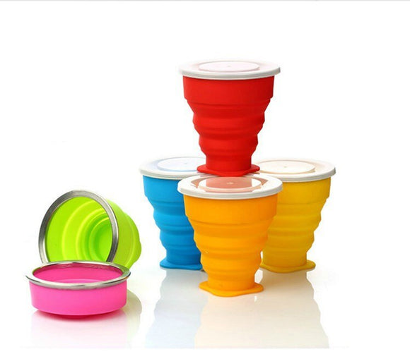 Silicone Retractable Folding Cup Travel Outdoor Telescopic Collapsible Cups Wine Folding Cup