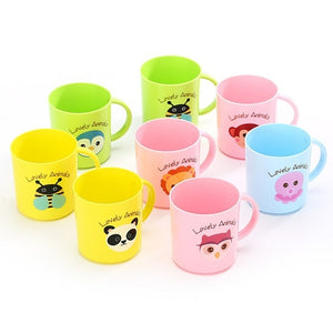 NEW 200ml Child Cartoon Tooth Brush Cups Wash Cups Water Cups Kids Learn Drink Feeding Bottles Baby Training Cups Random Color