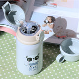 360ml Baby Dinosaur Feeding Cup Stainless Steel Milk Thermos for Children Insulated hot water Bottle leak-poof thermal Cup
