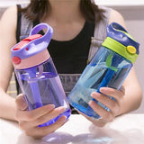 New Newborn Baby Water Bottles Infant Cup Children Learn Feeding Straw Juice Drinking Bottle For Kids 500ML 4 Colors