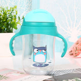 Baby Learning Drinking Water Bottles Feeding Sippy Cups With Handles And Strap Newborns Kids Cute Cartoon Leakproof Cup