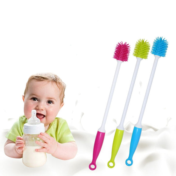 360 Degree Long Handle Wash Cup Brush Baby Milk Bottle Brush Glass Milk Water Cup Cleaning Dummy Nipple Pacifier Brushes