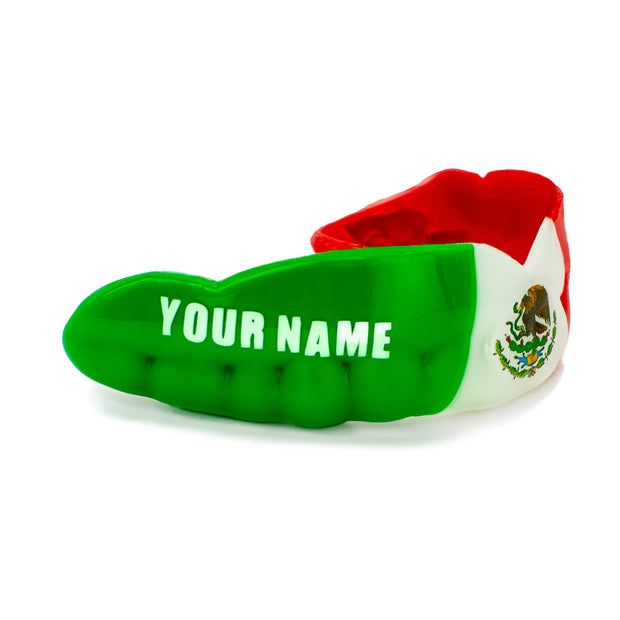Custom Sports Mouth Guards  Example of 3 Stripes Tricolor