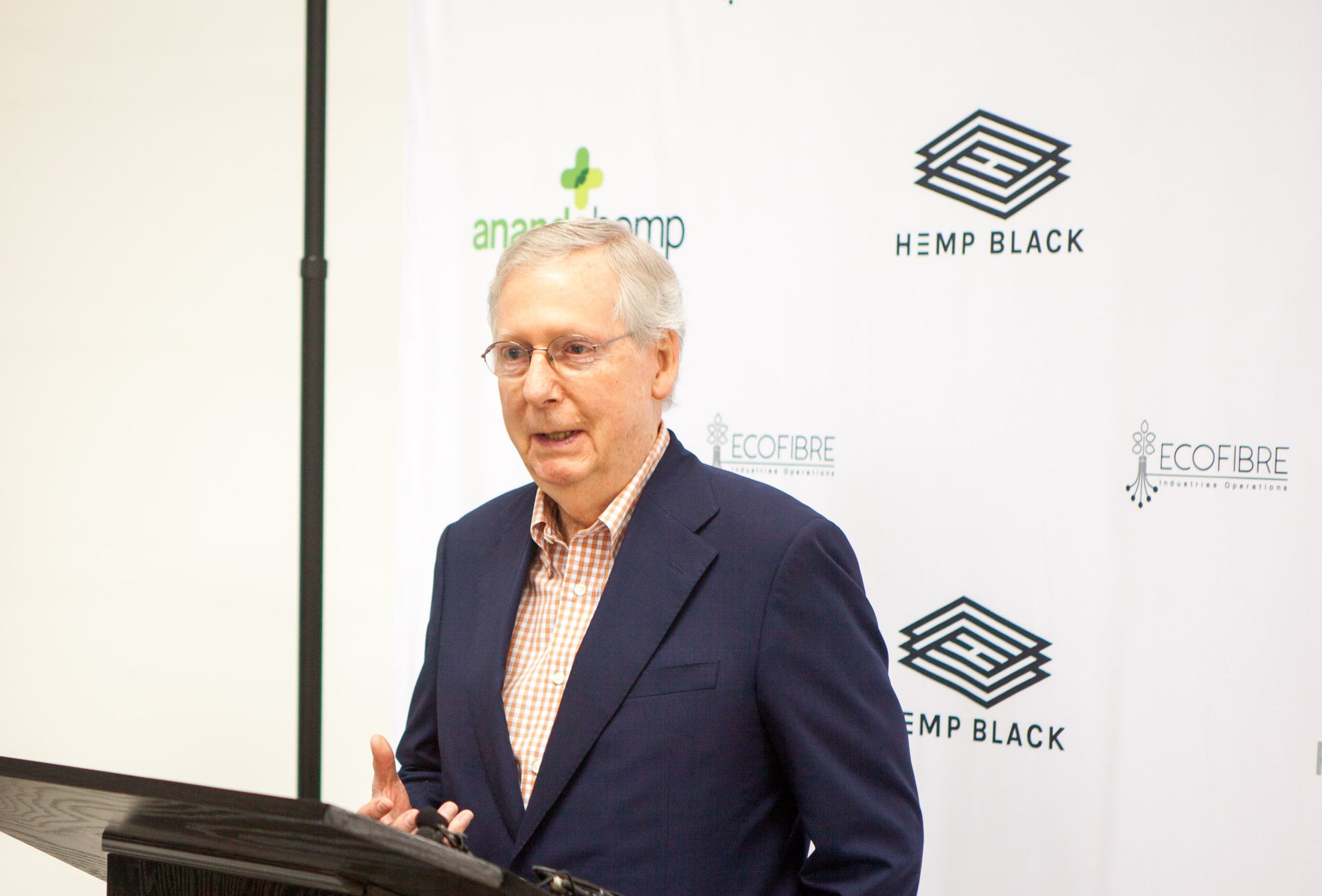 Ananda Hemp and Mitch McConnell