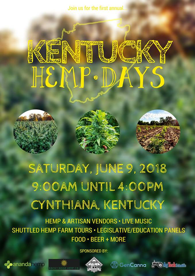 Flyer for Ananda Hemp Kentucky Hemp Days
