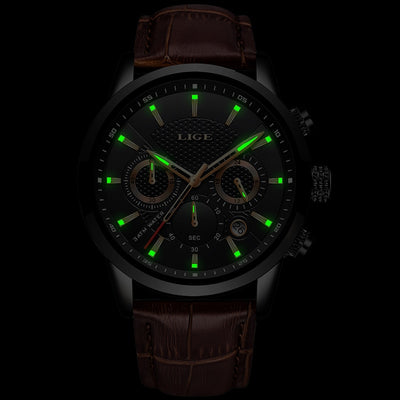 Men Watches Leather Sport Watch - Savefy