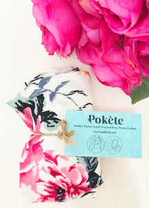 secret pocket travel scarf with floral print