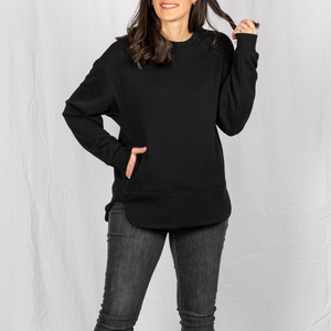 Pullover hidden pocket travel sweatshirt