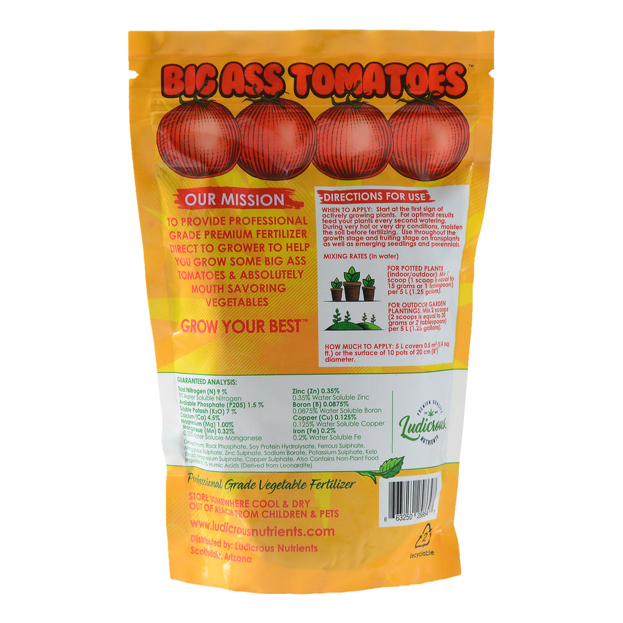 Ludicrous Nutrients Big Ass Tomatoes Premium Gardening Fertilizer Nutrients Indoor or Outdoor Works with All Vegetables, Plants (1.5 lbs)