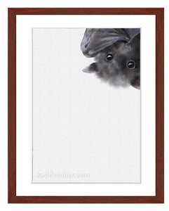 Baby Bat painting by award winning artist Kathie Miller.