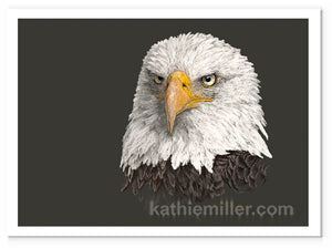 Bald Eagle painting by award winning artist Kathie Miller.