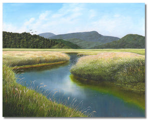 "Original oil painting of the wetlands in Northern California. 8"" x 10"" oil on panel by award winning artist Kathie Miller. Free shipping to the lower 48 states. Painting is shipped unframed."