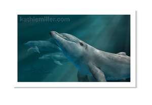 Dolphins by award winning artist Kathie Miller