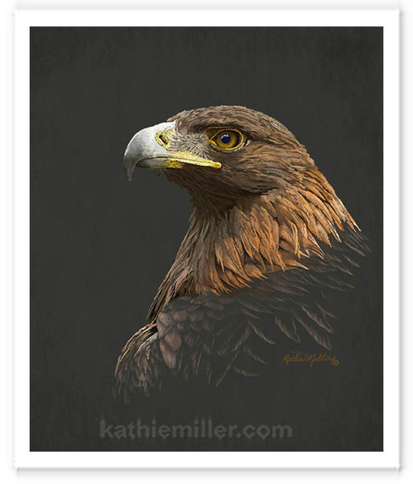 Golden Eagle Painting by award winning artist Kathie Miller