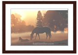 Horses in the Morning Fog